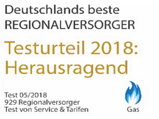 Siegel Regionalversorger Gas 2018